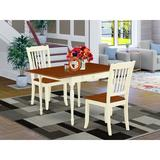 Ophelia & Co. Chelmsford Drop Leaf Solid Wood Dining Set Wood in White, Size 30.0 H in | Wayfair 880C2CFB56734E4194690C3C6A030A04