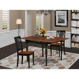 Ophelia & Co. Wynona Drop Leaf Solid Wood Dining Set Wood in Black, Size 30.0 H in | Wayfair 93EC34098AC942AB93A520BE0DB762AE