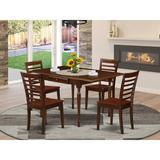 Winston Porter Hathi 5 - Piece Drop Leaf Rubberwood Solid Wood Dining Set Wood in Brown/Red | Wayfair 2053F11E957B4D9A98474B49B6FDC502