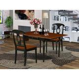 Ophelia & Co. Flara Drop Leaf Rubberwood Solid Wood Dining Set Wood in Black, Size 30.0 H in | Wayfair 80AC0586B69C4684A0D986673AED8D61