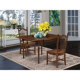 Ophelia & Co. Willia Drop Leaf Solid Wood Dining Set Wood in Brown, Size 30.0 H in | Wayfair 54D9D5D85CCA44D6909A6940F29D0FCC