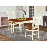 Ophelia & Co. Willia Drop Leaf Solid Wood Dining Set Wood in White, Size 30.0 H in | Wayfair 7FF3E82683244E7CA499851F9CED890F