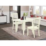 Winston Porter Sherwinn Drop Leaf Solid Wood Dining Set Wood in White, Size 30.0 H in | Wayfair 498728AC0DE14443BDC108C0A7D1E0D0