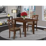 Winston Porter Talulah Drop Leaf Solid Wood Dining Set Wood/Upholstered Chairs in Brown, Size 30.0 H in | Wayfair 972537928A7A4420BEB90934A83A1006