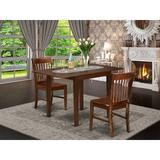 Winston Porter Brinklee Drop Leaf Rubberwood Solid Wood Dining Set Wood in Brown, Size 30.0 H in | Wayfair 81E91A83CD6A461FAA40F89418CCF8DC