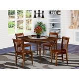 Ophelia & Co. Colrain Drop Leaf Solid Wood Dining Set Wood in Brown, Size 30.0 H in   Wayfair 7D9264FE7BA34C07BEFBC2E158092A14