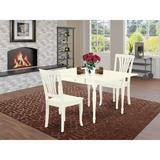 Ophelia & Co. Wynona Drop Leaf Solid Wood Dining Set Wood in White, Size 30.0 H in | Wayfair 0E921068D69C4F74B68AA22BD4F73969