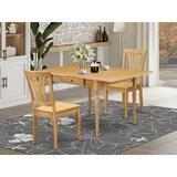 Ophelia & Co. Wynona Drop Leaf Solid Wood Dining Set Wood in Brown, Size 30.0 H in | Wayfair 119FB49B04D8474EB8DC39B6C960D692