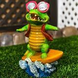 Rosecliff Heights Martucci Crocodile Fairy Garden Ceramic, Size 10.63 H x 5.91 W x 8.39 D in | Wayfair 0B3CBDDEC557414EB0EF092AAAA056B2