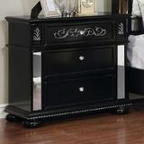 House of Hampton® Volney 2 - Drawer Nightstand Wood in Black, Size 30.0 H x 30.0 W in   Wayfair 39119F79F8B94B99B49307FA7E12E821