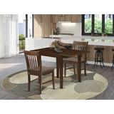 Winston Porter Dita Drop Leaf Solid Wood Dining Set Wood/Upholstered Chairs in Brown, Size 30.0 H in   Wayfair B569661708BB4DFE940BA7D115BAD219