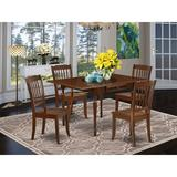 Ophelia & Co. Chelmsford Drop Leaf Solid Wood Dining Set Wood in Brown, Size 30.0 H in | Wayfair 026ED713AC0F4687A9BCD4399E391077