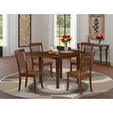 Winston Porter Sherwinn Drop Leaf Solid Wood Dining Set Wood in Brown, Size 30.0 H in | Wayfair E90788C6145742918429E4257195EBEC