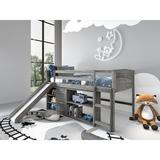 Harriet Bee Cholet Louver Twin Low Loft Configurable Bedroom Set Wood in Brown/Gray | Wayfair 747357229B57403FB65CD71161EAE231