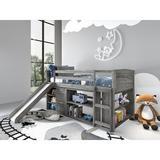 Harriet Bee Christian Louver Twin Low Loft Configurable Bedroom Set Wood in Brown/Gray | Wayfair B94F05F99B324D1389D91E58B2C0CD8F
