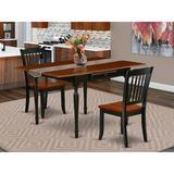 Ophelia & Co. Chelmsford Drop Leaf Solid Wood Dining Set Wood in Black, Size 30.0 H in | Wayfair 268CB005C8294B01952997FDA6AFEC9D