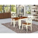 Winston Porter Warwich Drop Leaf Solid Wood Dining Set Wood in White, Size 30.0 H in | Wayfair A7FF733CC8D0459D90847084F88F4BF6