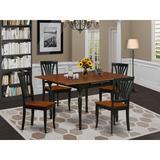 Ophelia & Co. Wynona Drop Leaf Solid Wood Dining Set Wood in Black, Size 30.0 H in   Wayfair 9525980DEC9A4D28A145C60F28837067