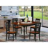 Ophelia & Co. Yemina Drop Leaf Solid Wood Dining Set Wood in Black, Size 30.0 H in | Wayfair A0848F000CC4471DA96B9ADB6FE02916