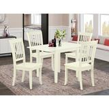 Winston Porter Sherwinn Drop Leaf Solid Wood Dining Set Wood in White, Size 30.0 H in | Wayfair 13E050707E05423BB02EBF91604BA28C