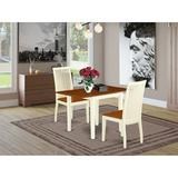 Winston Porter Fletchley Drop Leaf Solid Rubberwood Solid Wood Dining Set Wood in Brown/White, Size 30.0 H in | Wayfair