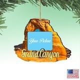 The Holiday Aisle® Canyon Photo Ornament Wood in Brown/Yellow, Size 5.5 H x 5.0 W x 0.25 D in | Wayfair 51D5EE537D684E9AA28F50D2BB2F0A90
