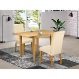 Winston Porter Carbury Drop Leaf Solid Wood Dining Set Wood/Upholstered Chairs in Brown, Size 30.0 H in   Wayfair 1FB42A0CD895418590981C263E73C35C