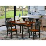 Ophelia & Co. Colrain Drop Leaf Solid Wood Dining Set Wood in Black, Size 30.0 H in   Wayfair 555A5C53831B4B0D9656362A0324561B