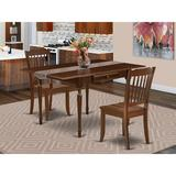 Ophelia & Co. Chelmsford Drop Leaf Solid Wood Dining Set Wood in Brown, Size 30.0 H in | Wayfair C2CD1E7A10334230AB523C3C0387767C