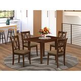 Winston Porter Mairie Drop Leaf Solid Wood Dining Set Wood/Upholstered Chairs in Brown/Red   Wayfair 4B300FABDB484D8F807EB6336898EC25