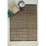 Canora Grey Pavel Geometric Hand Knotted 9' x 12' Wool Black/Ivory Area RugWool in Brown, Size 12.0 H x 9.0 W x 0.5 D in | Wayfair