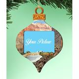 The Holiday Aisle® Canyon Photo Ornament Wood in Brown/Gray/Yellow, Size 5.5 H x 5.0 W x 0.25 D in | Wayfair FB67210A16F34866BB01780FC0BAA526