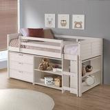 Harriet Bee Chouhan Louver Twin Low Loft Configurable Bedroom Set Wood in Brown/White | Wayfair 1CB9B202B42A4473A0A9FD585F445F42