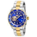 Invicta Pro Diver Men's Automatic Stainless Steel, Gold Case, Blue Dial - 21719