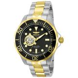 Invicta Pro Diver Automatic Watch - Gold, Stainless Steel case with Steel, Gold tone Stainless Steel band - Model 13705