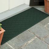 Abalynn Argyle Runner Mat 60 x 22, 60 x 22, Dark Green