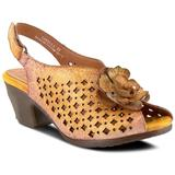 Lovella Sandal - Yellow - Spring Step Heels