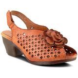Lovella Sandal - Brown - Spring Step Heels