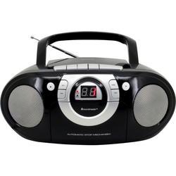 Radio-Kassettenspieler mit CD-Spieler schwarz