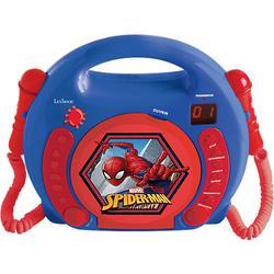 Spider-Man Kinder CD-Player mit 2 Mikrofonen blau/rot