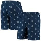 Men's Navy Chicago White Sox Cooperstown Collection Mini Logo Swim Shorts
