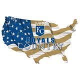 Kansas City Royals USA Flag Cutout Sign