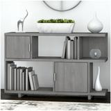 Kathy Ireland by Bush Industries Madison Avenue Low Geometric Bookcase- MDB148MW-03