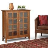 Acadian SOLID WOOD 39 inch Wide Rustic Medium Storage Cabinet in Honey Brown - Simpli Home AXREG007-HB