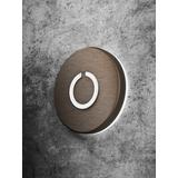 Satin Aluminum Round Touch LED Doorbell by Luxello
