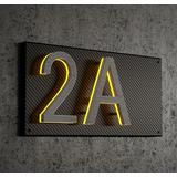 """""""8"""""""" Satin Brass 8"""""""" House Number Plate"""""""