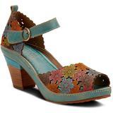 Avnia Sandal - Blue - Spring Step Heels