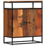 """vidaXL Side Cabinet 23.6""""x13.8""""x29.9"""" Solid Reclaimed Wood and Steel"""