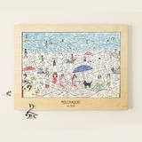 At the Beach Personalized Family Puzzle