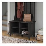 Bush Furniture Salinas Collection Shoe Storage Bench Vintage Black - SAS232VB-03